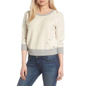 Distressed / Cropped Sweatshirt NWOT